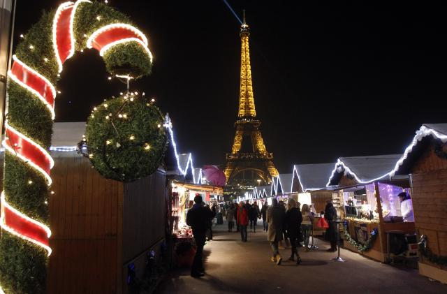 Christmas Market At The Trocadero In Paris